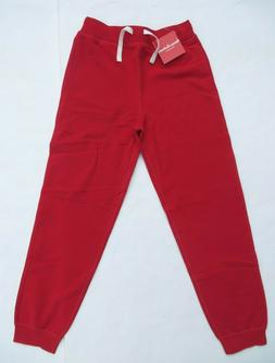 Hanna Andersson 140 10 Girls boys sweatpants NEW Red 100% Co