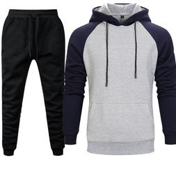 2019 New Casual Mens Sets Hoodies Pants Warm Autumn Winter B