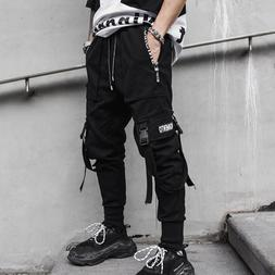 2019 New Hip Hop Joggers Men Black Harem <font><b>Cargo</b><