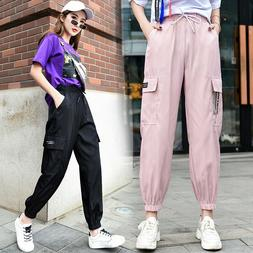 2019 Women Spring Pink Sweatpants for Junior Girls Black Act