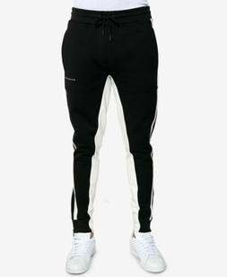$220 Sean John Men Black Slim-Fit Joggers Track Pants Stripe