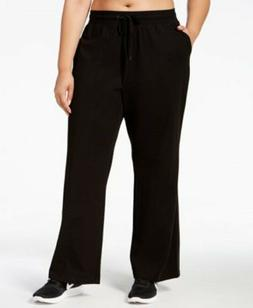 IDEOLOGY 3X Plus Size Wide Leg Sweatpants Drawstring Elastic