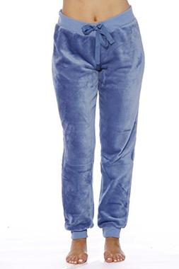 Just Love 6317-Blue Hike-S Velour Pajama Pants/Joggers for W