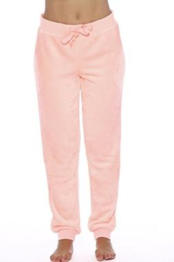 Just Love 6317-Neon Coral-XS Velour Pajama Pants/Joggers for