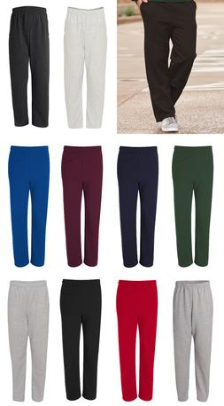 JERZEES 974MPR NuBlend Open Bottom Sweatpants with Pockets S