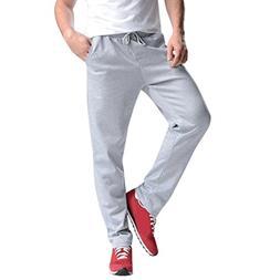 AMSKY❤ Men Trouser, Sports Gym Workout Pants Hip Hop Joggi