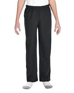 Gildan Kids' Big Open Bottom Youth Sweatpants, Black, X-Larg