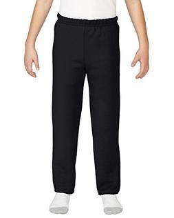 Gildan Kids' Little Elastic Bottom Youth Sweatpants, Black,