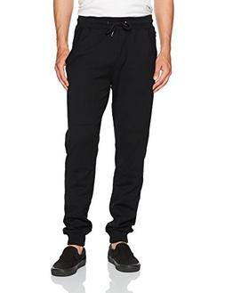 Southpole Men's Active Basic Jogger Fleece Pants, Black, Lar