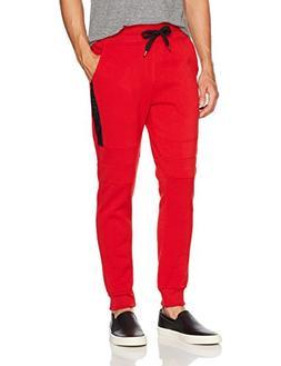Southpole Men's Active Basic Jogger Fleece Pants, Red, XX-La