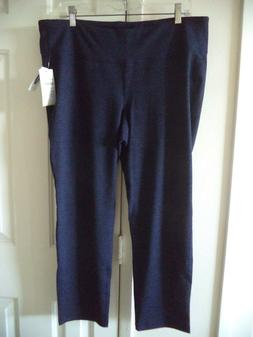Old Navy Active Cobalt Navy Blue Black Cropped Exercise Swea