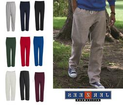 Jerzees Adult NuBlend Open-Bottom Sweatpants w/ Pockets S-3X