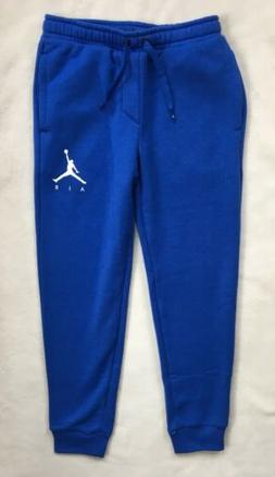 NIKE AIR JORDAN Boys Fleece Jogger Pants Sweatpants Blue NWT