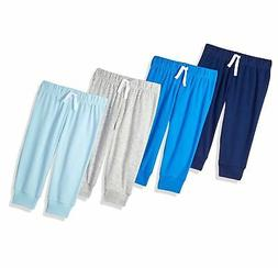 Amazon Essentials Baby Boys 4-Pack Pull-on Pant Blue/Multi 1