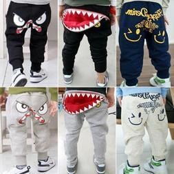 Baby Boys Girls Cotton Harem Long Pants Sweatpants Kids Trou