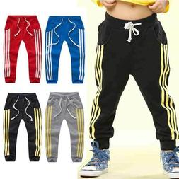 Toddler Kids Boy Girls Trousers Cotton Soft Sweatpants Harem
