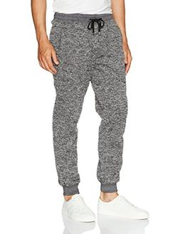 Southpole Men's Basic Fleece Marled Jogger Pant, Grey, X-Lar