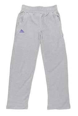 Adidas Big Girls Cotton Fleece Pants , Medium Grey)