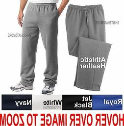 BIG MENS Open Bottom Sweatpants with POCKETS Comfortable Siz