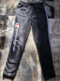 Black Champion Boys Sweatpants Closed Bottom XL