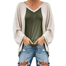 HTDBKDBK Blouse Women Fashion Sexy Casual V-Neck Long Sleeve