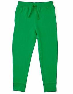 Leveret Boys Girls Cotton Green Legging Pants with Drawstrin