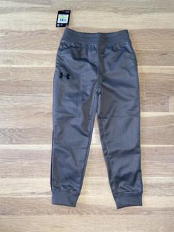 Boys Grey Under Armour Jogger Sweatpants Size 4 Nwt