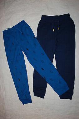 Boys Pants 2 LOT SWEATPANTS Sweats NAVY & BLUE w/ LIGHTNING