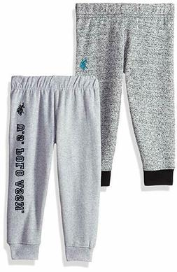 Boys Pants US Polo 2 Pack Toddler Baby Jogger Fleece Sweatpa