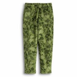 Cherokee Boys Pull-On Fleece Sweat Pants Green Camo Camoufla