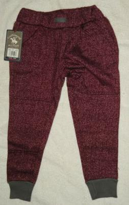 Beverly Hills POLO CLUB Boys SIZE 4 MAROON Joggers Sweatpant