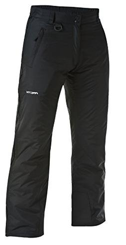 Arctix Full Side Zip Insulated Snow Pants, 3X-Large, Black