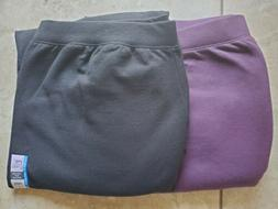 Just My Size by Hanes Open Leg Pant 3X in black, 5X in purpl