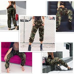 Camo Pants for Women Camouflage Casual Trousers Harem Pants