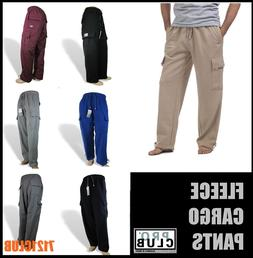 PRO CLUB CARGO SWEAT PANTS MEN'S HEAVYWEIGHT FLEECE JOGGERS