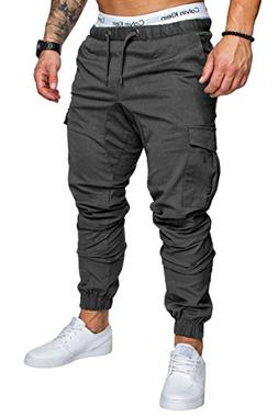 Banana Bucket Men's Cargo Pants Slim Fit Casual Sweatpants