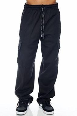 Pro Club Cargo Sweat Pants 13oz Heavy Weight 60/40 S-5XL , B