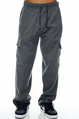 Pro Club Cargo Sweat Pants 13oz Heavy Weight 60/40 S-5XL , H