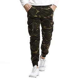 FORTUN Fashion Men's Casual Pants Retro Trousers Movement