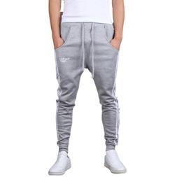 Mooncolour Men's Casual Slim Fit Jogging Harem Pants  Gray L