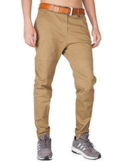 ITALY MORN Men's Chino Jogger Sweatpants Flat Front Casual P