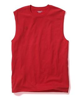 Champion Men's Classic Cotton Muscle Tee Scarlet M