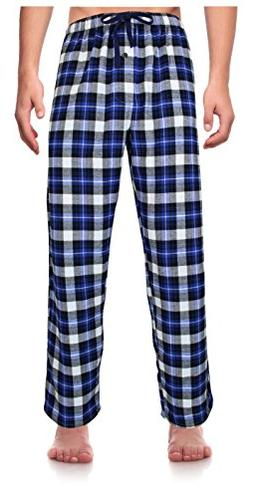 Casual Trends Classical Sleepwear Men's 100% Cotton Flanne