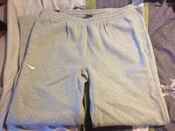Nike Club Swoosh Fleece Sweatpants Grey - Men's Size L 82642