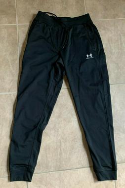 Under Armour Cold Gear Black Jogger Sweatpants Elastic Waist