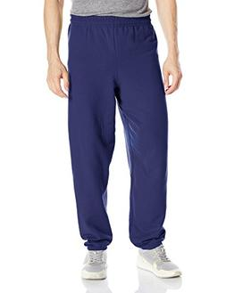 Hanes ComfortBlend Fleece Pant p650, Navy, Large