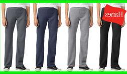 Hanes ComfortSoft EcoSmart Women's Petite Open Bottom Leg Sw
