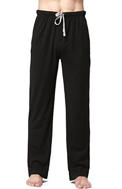 CYZ Cotton Knit Pajama Lounge Sleep Pants-Black-S