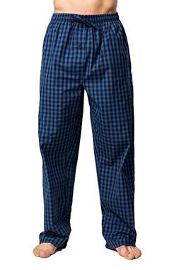 CYZ Men's 100% Cotton Poplin Pajama Lounge Sleep Pant-P17001