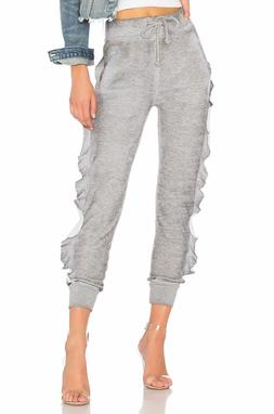 couture women s norelle ruffled sweatpants size